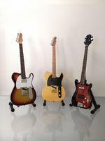 (Rolling Stones) Richards, Wyman, Wood: 1970s Miniature Guitar Sets (UK Seller)